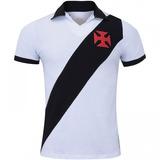 Camisa Polo Vasco Da Gama Paris - Masculina - Cor Branco pre 8a5631b8fc3e8