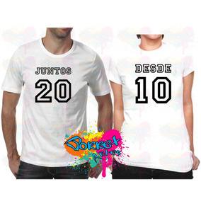 Camisas Para O Casal Usar Juntos Camisetas Manga Curta No Mercado