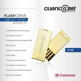 Jetflash T3g 16gb Usb 2.0 Ts16gft3g Gold Transcend