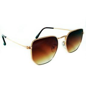 582dd64a71de1 Óculos De Sol Feminino Hexagonal Verão 2019 Super Promoção