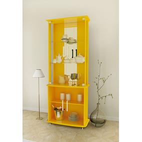 Cristaleira Com Iluminação Em Led 4070 Cor Amarelo
