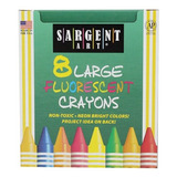 Sargent Art 22  0551 8large Crayons Caja Tuck Y Fluorescente