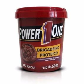 2 Pastas De Amendoim - Brigadeiro Proteico Power 1 One 500g