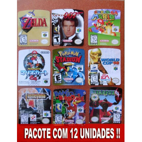 Label Cartuchos Nintendo 64 Etiquetas Fitas N64 ! 12 Unid.
