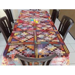 Toalha De Mesa Em Renda De File 6 A 8 Cadeiras