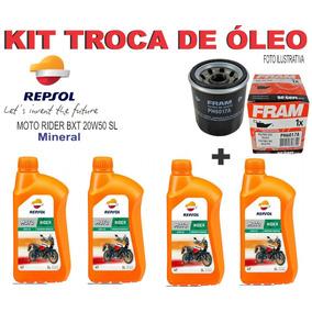 Kit Troca Óleo/filtro Kawasaki Z750 Repsol 20w50 Sl Sport