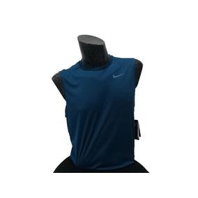 Playera Camiseta Nike Swim Sin Manga Azul Petróleo
