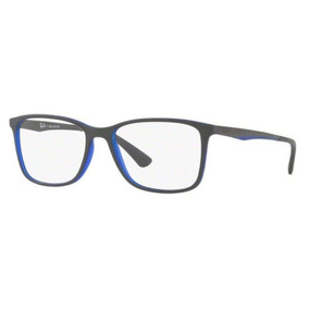 17358b30d8dd6 Armação Oculos Grau Ray Ban Rb7133l 8036 Cinza Azul Fosco