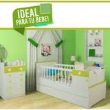 Dormitorio Infantil Cuna + Cama Carro + Chiffonier **9
