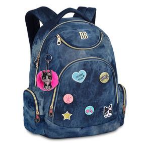 Mochila Jeans Escolar Juvenil Rebecca Bonbon9265 Original