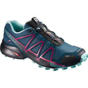 Zapatilla Femenina Salomon - Speedcross 4 Cs W Azul/rosado -