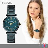 Reloj Fossil Carlie Verde Y Dorado - Original