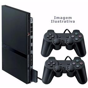 Playstation 2 Slim Destravado Completo + 5 Jogos- Ps2 Usado