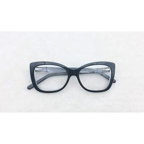 16b59a4fcfdab Oculos De Grau Discreto Moderno Feminino - Óculos Preto no Mercado ...