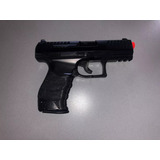 Pistola Airsoft Spring Walther Ppq Full Metal C/ 2 Mag E Nf