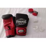 Kit Boxe/ Muay Thai Da Fheras Luva/ Bandagem/protetor Bucal