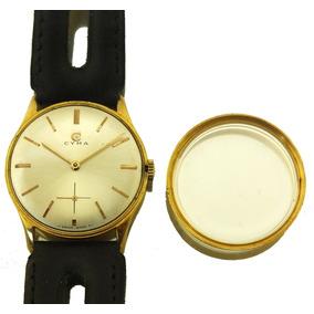 Relógio Cyma Masculino Em Ouro 18k Impecável Assinado J12598