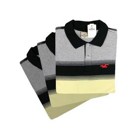 b57e6276f6 Camisa Polo Listrada Masculina Varia - Pólos Manga Curta Masculinas ...