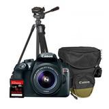 Camara Reflex Canon T6 Lente18-55 Tripie Estuche Y Memoria