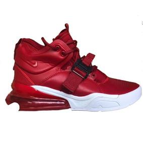 Bota Modelo Nike Air Force 270 Rojo Suela Blanca ab32939c3c73e