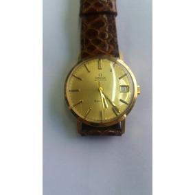 6fed84ff6e5 Relógio De Pulso Automático Ômega Antigo Em Ouro Funcionando