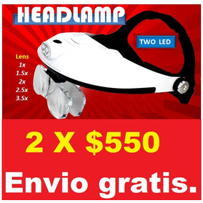 2 Kit De Lupas Manos Libres Led Optovisor Frontal.