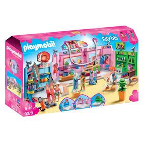 Playmobil 9078 Paseo Comercial Con 3 Tiendas