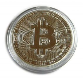 Moeda Física Bitcoin Dourada Banhada Ouro 24k Fret Barato
