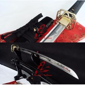 Espada Samurai Katana Afiada Original Com Corte Aço 9260