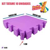 Kit 10 Placas Tapetinho Eva Meninas Bebês Lilás 50x50x1cm