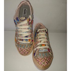 Zapatos Para Mujer, Dama, Tennis Artesanal, Talla 38