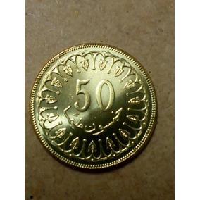 Tunisia Moeda 50 Milimes 2013 ( 25mm)