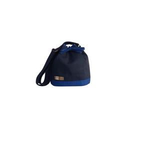 Bolsa Bucket (saco) Azul Marinho E Royal Brigitte Bags a7820017eb1
