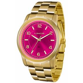 38c3c7b00c3 Relogio Zebrado Rosa Com Pedrarias Lince - Relógios De Pulso no ...