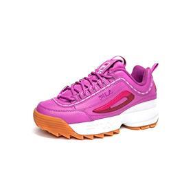 Tenis Fila Mujer Rosa Disruptor Ii Premium Repeat Originales