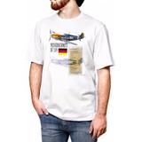 Camiseta Messerschmitt Bf-109 Aeromodelismo Branca Camisa