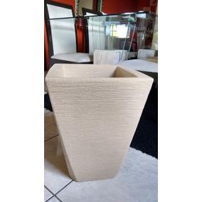 Vaso Para Plantas Grafiato Trapézio N50 Areia - Polietileno