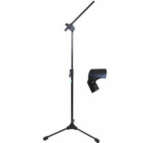 Pedestal De Microfone Tipo Girafa + Cachimbo Tps Ask Promo