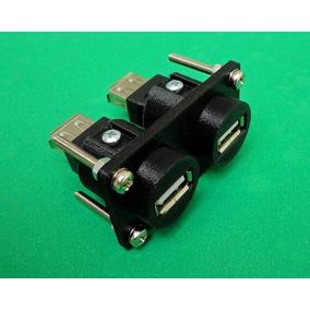 Usb Plug (duplo) Conector Batrik Semelhante Neutrik (2 Em 1)