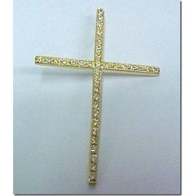 6d2eeb5aef25d Pingente Crucifixo Cravejado Diamantes Ouro - Joias e Bijuterias no ...