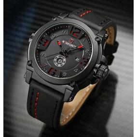 faa942a76ba Relógio Masculino Militar Esportivo Naviforce Pulseira Couro