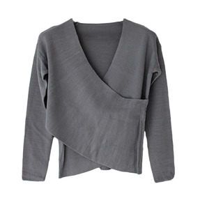 Women Autumn V Neck Design Pure Color Warm Fashion Knitwear