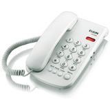 Telefone Com Fio Branco Mesa / Parede - Elgin Tcf 2000b