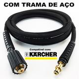 7,5 Metros Mangueira Lava Jato Karcher Hd 585 Trama De Aço