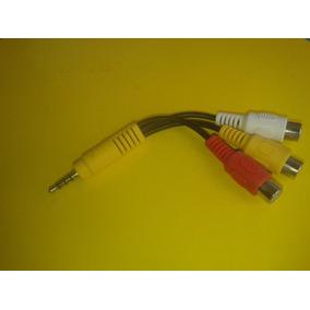 Cabo Adaptador P2 P3 X Av Rca Composto P Tv Led Lg Samsung