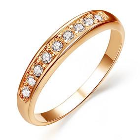 34eb53453a498 Anel E Meia Aliança Ouro Rosê 18k Swarovski - Anéis com o melhor ...