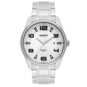 Relógio Masculino Mbss1297 Orient Prata Aço Com Nota Fiscal