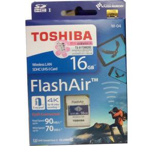 Toshiba Flash Air W-04 Wifi / Wireless Sd Memory Card 16...