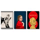 Placas Decorativas Adele Desenho E Foto (conjunto)