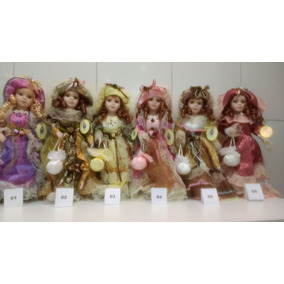 Boneca Porcelana Coleção Dama Antiga Porcelain Doll 40 Cm